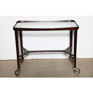 1950s Italian Modern Solid Rosewood Bar Cart Preview
