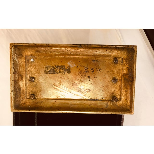 Antique Brass Three Slot Letter Holder For Sale In New York - Image 6 of 7