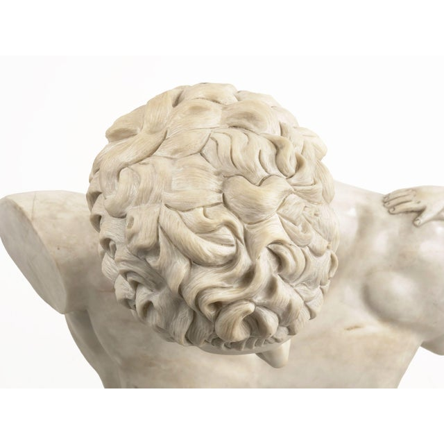 Stone Classical Marble Bust of Hermes Holding Dionysus After the Antique by Praxiteles For Sale - Image 7 of 13