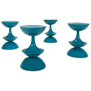 Rare Nanna Ditzel Stools, Set of Four, Denmark, 1969 For Sale