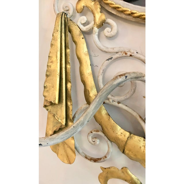 Large Pair Mid Century Italian Sconces For Sale In Miami - Image 6 of 13