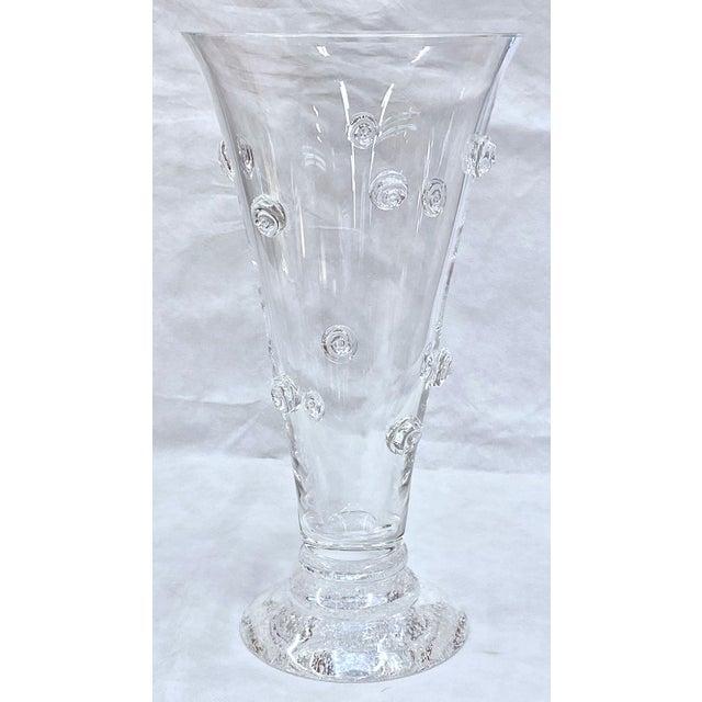 Modern Steuben Swirled Crystal Vase For Sale - Image 3 of 13