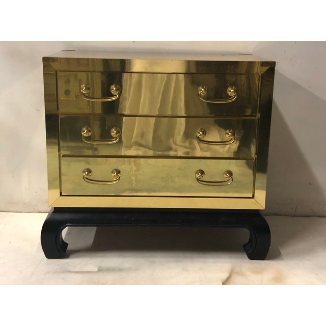 1970s Asian Modern Style Brass Chest For Sale - Image 5 of 6