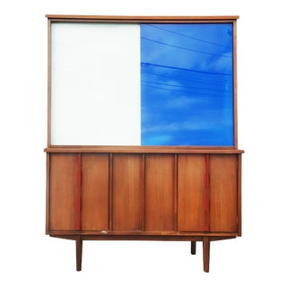 Mid-Century Modern / Brutalist Display Cabinet / Hutch For Sale