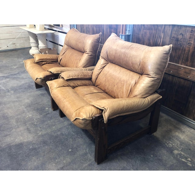 1970's Swedish Lounge Chairs For Sale - Image 4 of 7