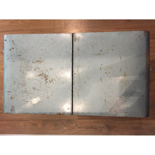 "Vintage Metal Picnic ""Suitcase"" For Sale In San Antonio - Image 6 of 7"