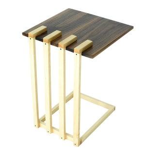 Modern Hardwood Floating Side and End Table For Sale