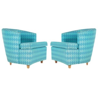 Edward Wormley for Dunbar Style Matching Club Chairs - a Pair