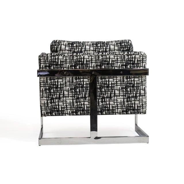Milo Baughman for Thayer Coggin Chrome Lounge Chair For Sale - Image 9 of 10