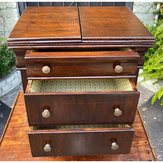 Antique Salesman's Sample Diminutive Chest of Drawers For Sale - Image 4 of 6