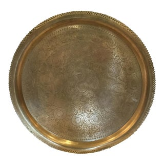 Mid 20th C. Solid Brass Vintage Tray For Sale