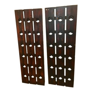 Hanging Wine Bottle Racks - Set of 2 For Sale