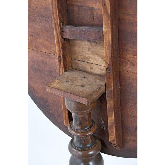 Circa 1850 Swiss Walnut Tilt Top Tea Table For Sale - Image 10 of 11