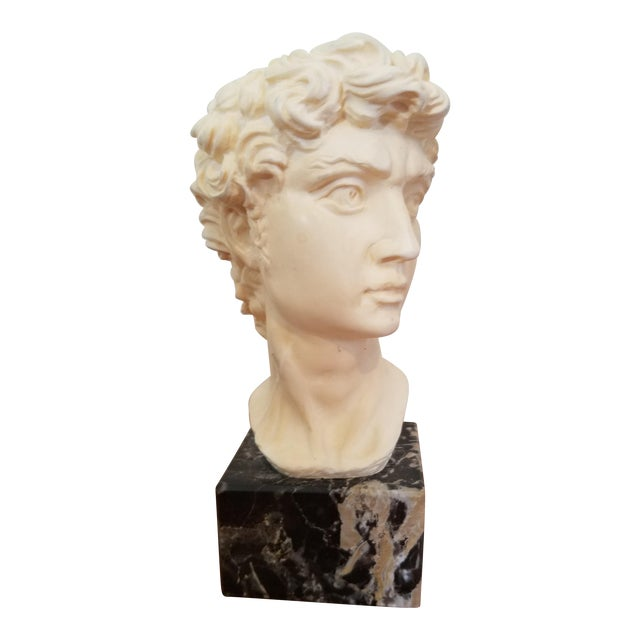 David Bust On Marble Base For Sale