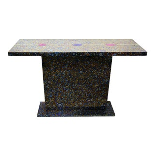 COSMOS console table in titanium by Xavier Mennessier