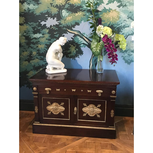 Gold Mahogany Empire Cabinet For Sale - Image 8 of 10