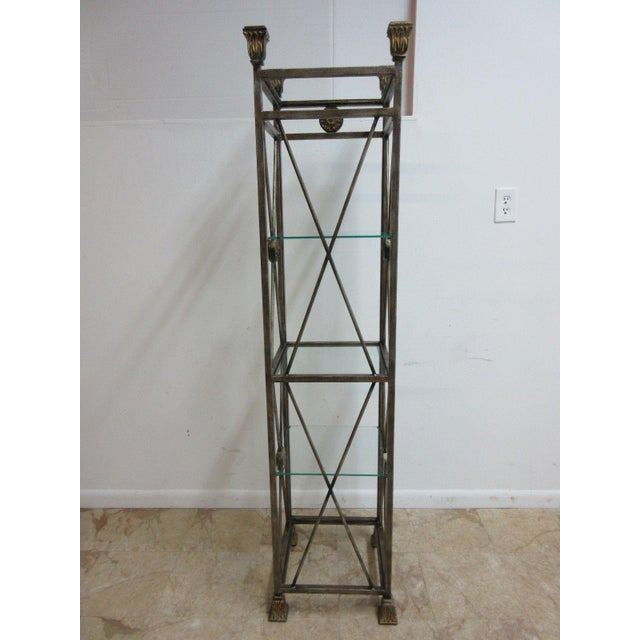 Gold Maitland Smith Metal French Regency Etagere Shelf For Sale - Image 8 of 10