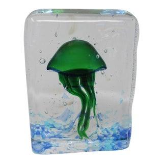 Wave Murano Glass - Jellyfish Aquarium in Murano Glass For Sale
