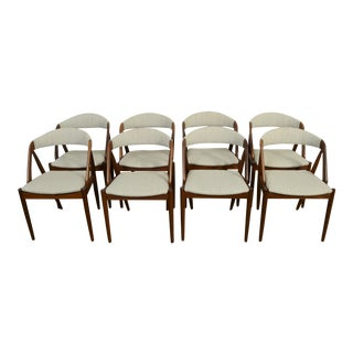 1960s Vintage Kai Kristiansen Model 31 Dining Chairs- Set of 8 For Sale
