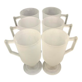 1960's Indiana Glass Cafe Mugs - Set of 6 For Sale