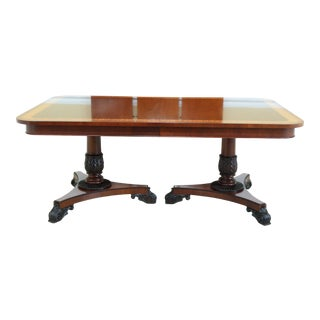 Baker Neoclassical Mahogany Dining Room Table For Sale