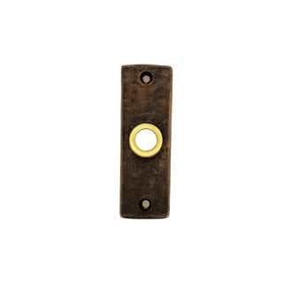 Slim Classic Doorbell, Traditional Patina For Sale