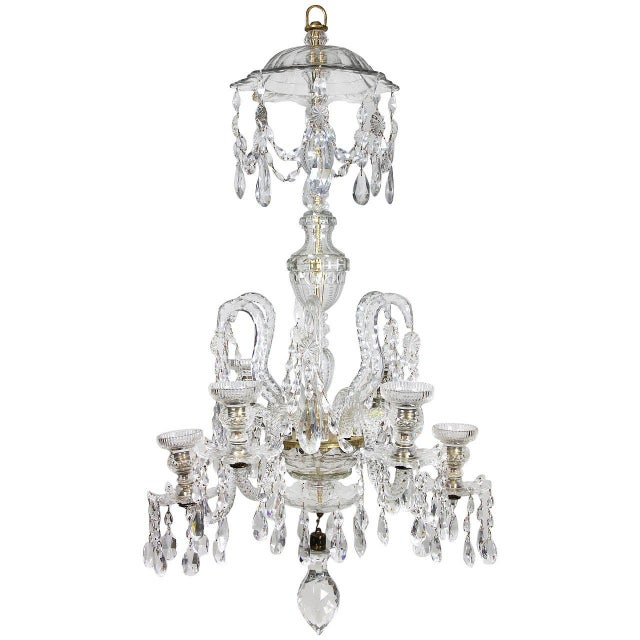 Anglo-Irish Cut-Glass Chandelier For Sale - Image 10 of 10