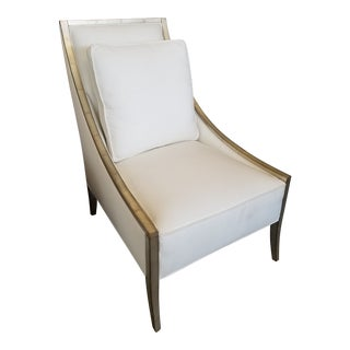 "Caracole ""A Fine Line"" Silver Leaf Slope Arm Chair"