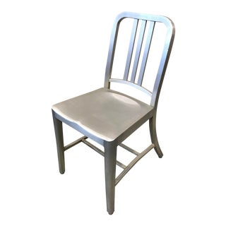 Emeco Aluminum Navy Side Chair For Sale