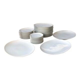 Mid Century Raymond Loewy Continental China Rosenthal White Dinnerware - Set of 39