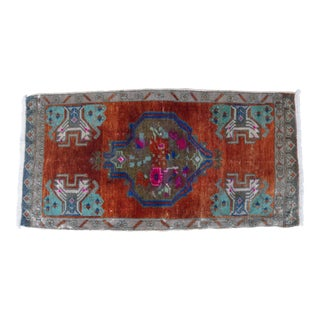 "Early 20th Century Turkish Accent Rug - 1'10"" X 3'7"" For Sale"