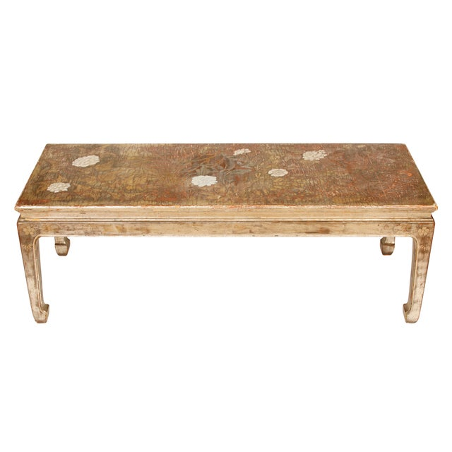 Asian Late 20th Century Max Kuehne Silvered Chinoiserie Coffee Table For Sale - Image 3 of 3