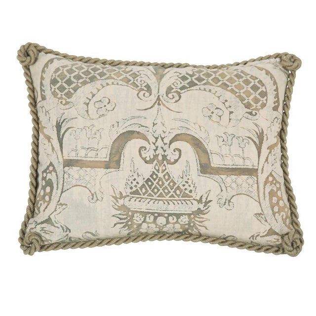 19th Century Small Fortuny Fabric Pillow For Sale - Image 5 of 5