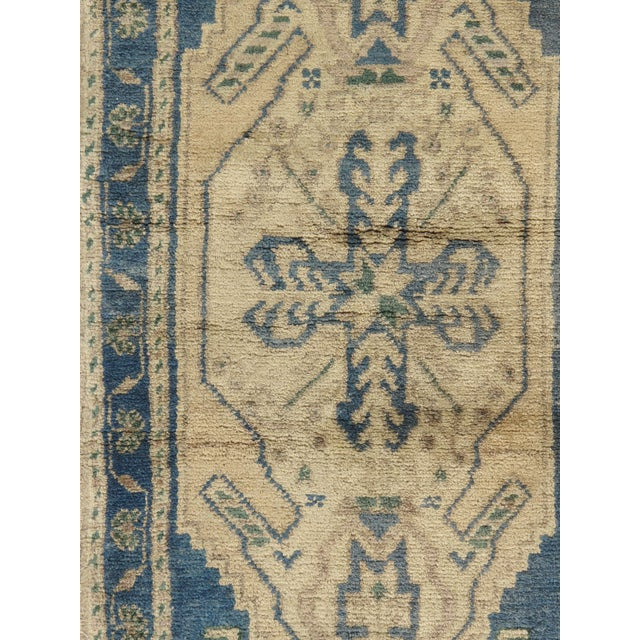 A vintage 1950 Turkish Yastik. Yastik's are small size rugs that are adaptions of traditional Turkish designs. Hand-woven...