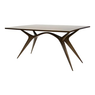 1950s Mid-Century Modern Brazilian Giuseppe Scapinelli Expandable Console to Dining Table For Sale