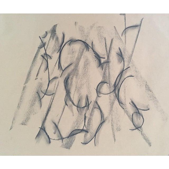 Mount, an Original Charcoal Drawing by Erik Sulander 22 X 24 Unframed For Sale