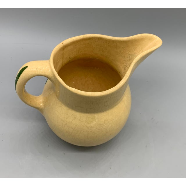 1940s Watt Pottery's Apple Pitcher For Sale - Image 5 of 9