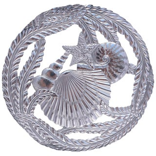 Fitz and Floyd Silver Seaside Trivet For Sale