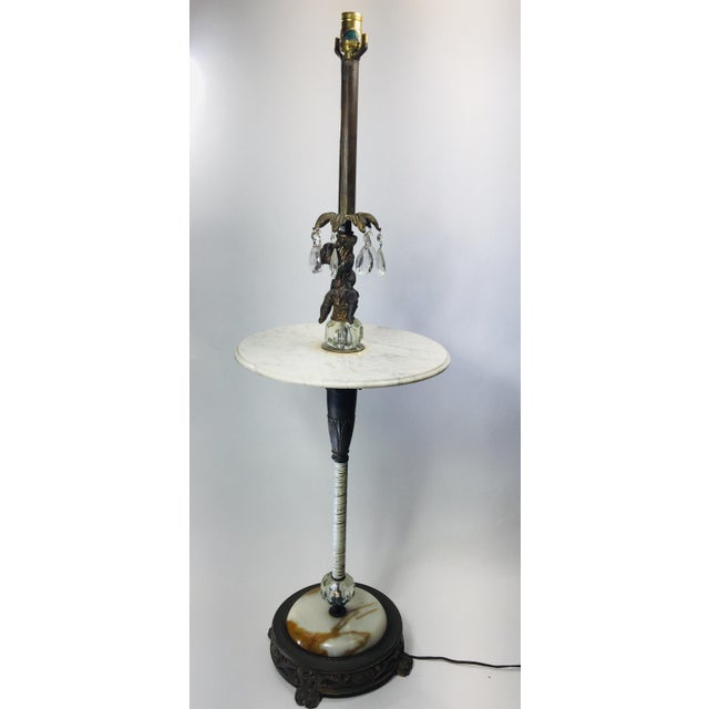 Vintage Marble and Agate Figural Putti Floor Lamp For Sale - Image 4 of 13