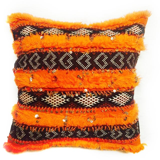 Orange Moroccan Accent Pillow - Image 1 of 2