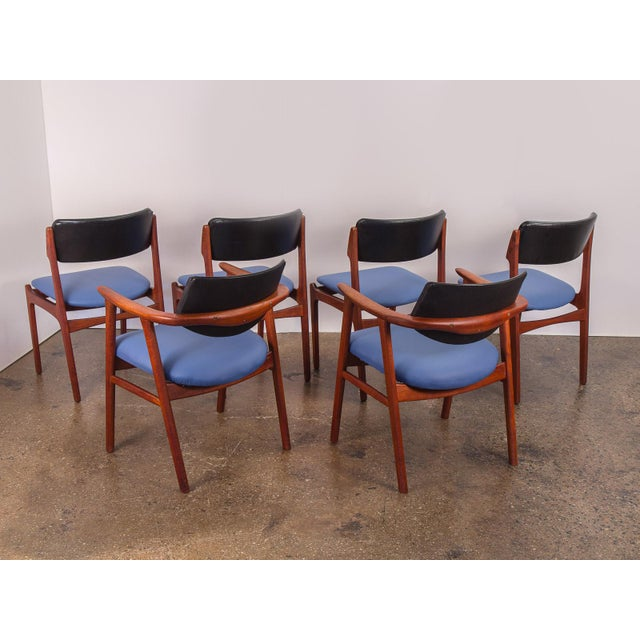 Set of 6 Erik Buck Style Teak Dining Chairs - Image 4 of 11
