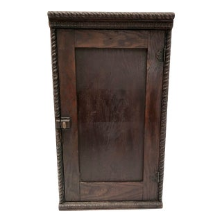 Early 1900s Handcrafted Wall Cabinet For Sale