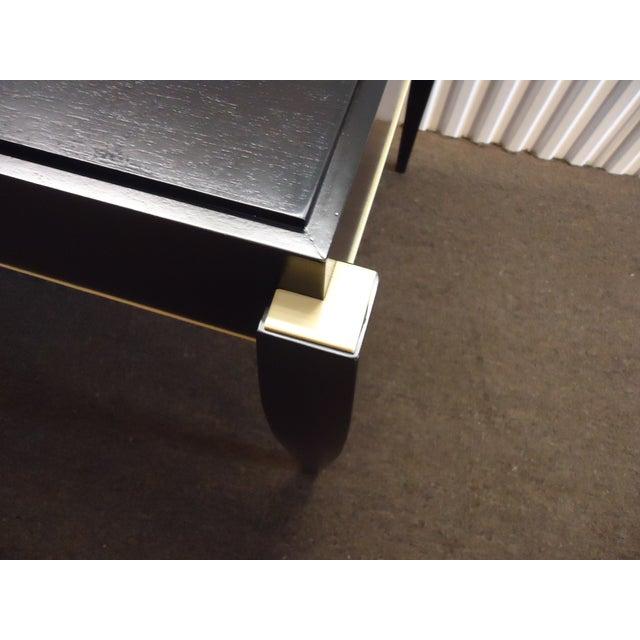 Metal Mid-Century Modern Dark Wood Tanker Desk For Sale - Image 7 of 13