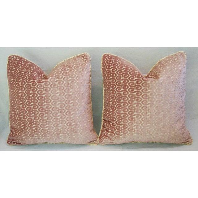 Designer Old World Weavers Velvet Pillows - A Pair - Image 3 of 11