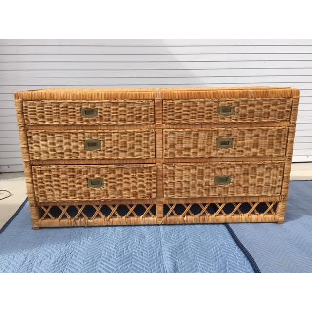 Vintage Wicker Chest of Drawers - Image 4 of 4