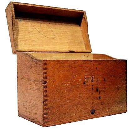 Antique Oak Storage Box - Image 1 of 7