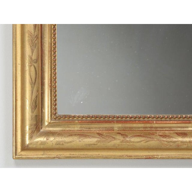 Antique French Louis Philippe Mirror Original Gilding For Sale - Image 10 of 12