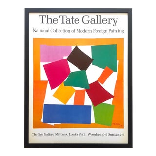 "Henri Matisse Rare Vintage 1993 Lithograph Print Framed Iconic Museum Poster "" the Snail - l'Escargot "" 1953 For Sale"