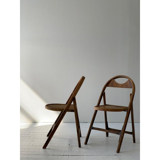 1930s Bauhaus Bent Wood Folding Chairs - a Pair For Sale - Image 13 of 13