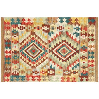 "Nalbandian - Contemporary Afghan Maimana Kilim - 2'9"" X 4'1"" For Sale"